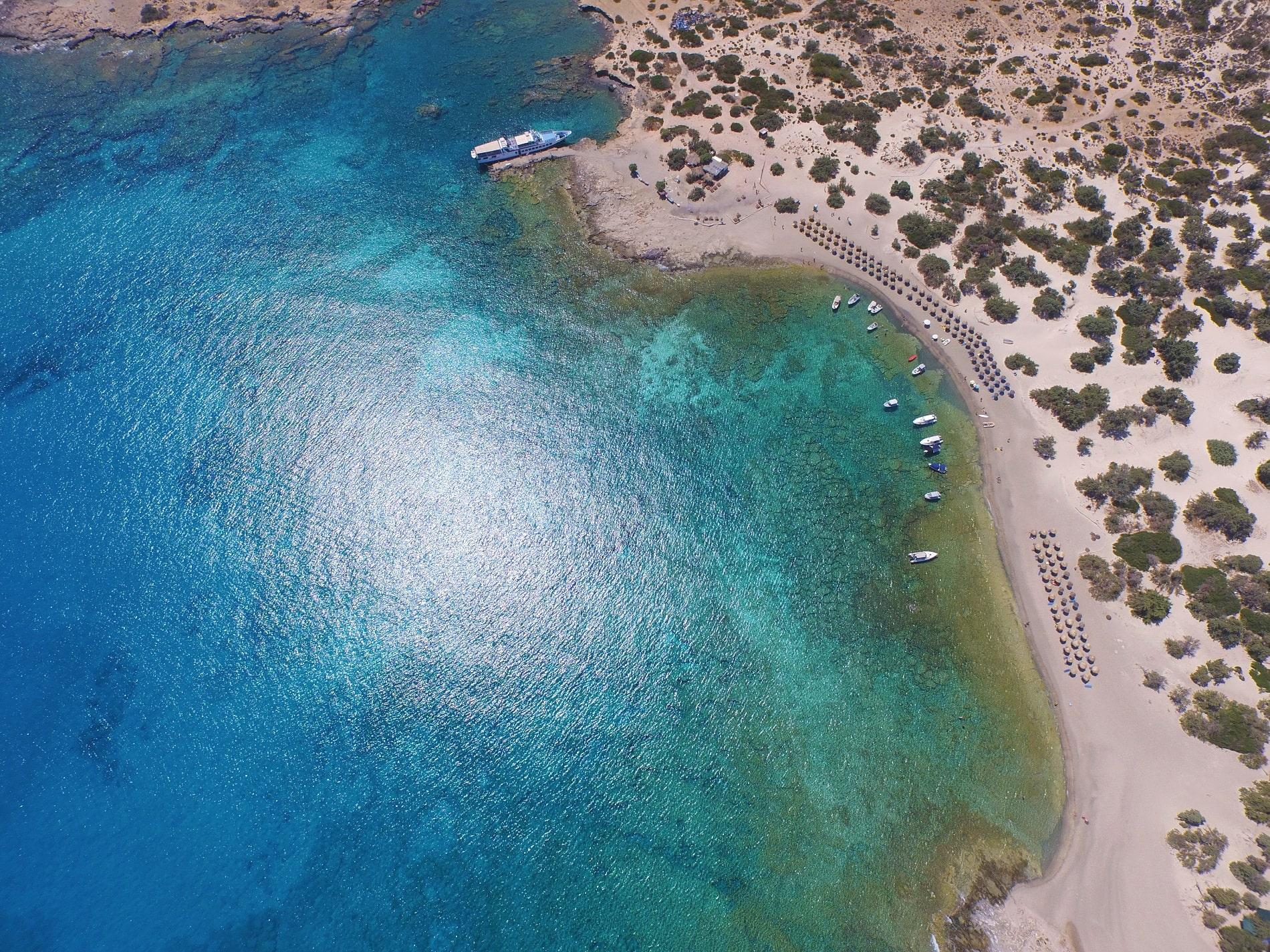 blue cruises crete chrissi drone view 06
